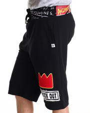 Men - Dunlap Chenille Patch Drawstring Shorts