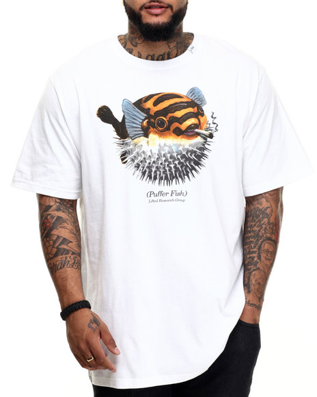 LRG - Men White Puffy Pufferton T-Shirt (B & T)