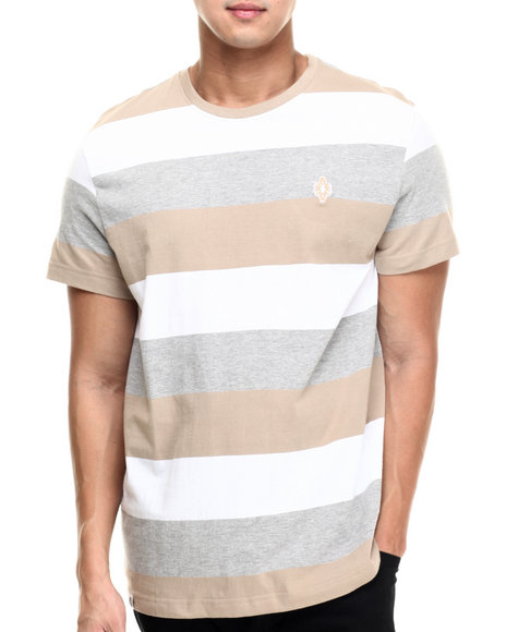 Akademiks - Men Khaki Andes Stripe S/S Tee