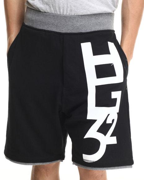 Ur-ID 215889 Hustle Gang - Men Black Hg32 Sport Shorts