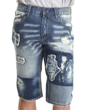 Men - Distressed Denim Shorts