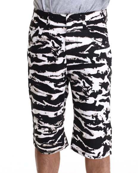 Buyers Picks - Men White Tiger Acid Twill Shorts