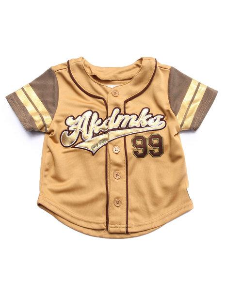 Akademiks - Boys Khaki Aka Button Up Baseball Tee (2T-4T)
