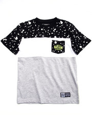 Boys - TEXTURE PRINTED POCKET TEE (8-20)