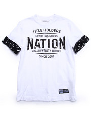 Boys - TEXTURED LOGO TEE (8-20)