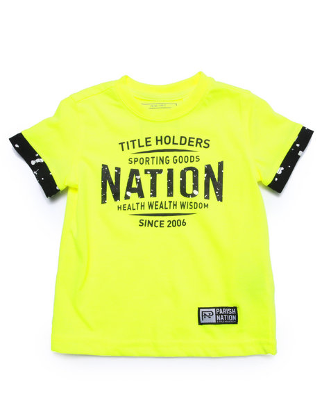 Parish - Boys Yellow Logo Tee (2T-4T) - $7.99