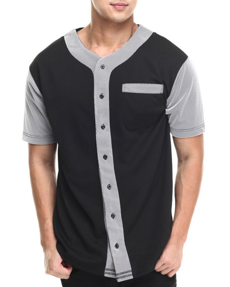 Ur-ID 215927 Buyers Picks - Men Black Mesh Baseball Jersey