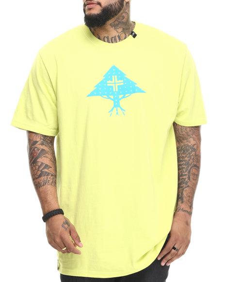 Lrg - Men Yellow Ditzy Tree T-Shirt (B&T) - $30.00