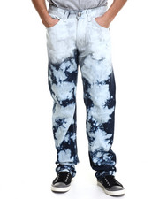 Men - Straight Fit Acid Denim Jeans