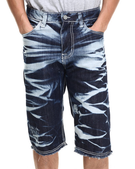 Buyers Picks - Men Indigo Acid Washed Denim Shorts