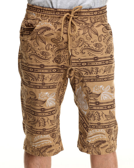 Ur-ID 215948 Buyers Picks - Men Wheat Printed Short Pants