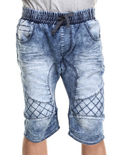 Men - Knit Denim Shorts