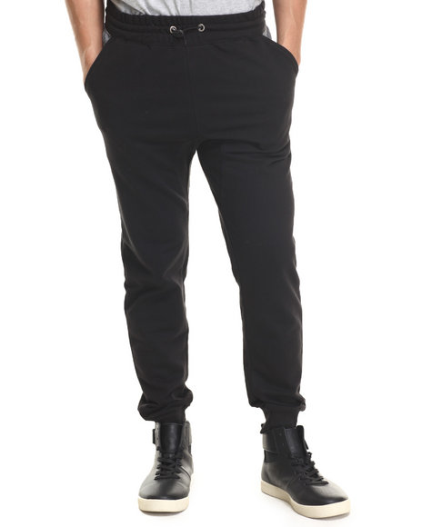 Ur-ID 215955 Buyers Picks - Men Black Toggle Jogger Sweatpants