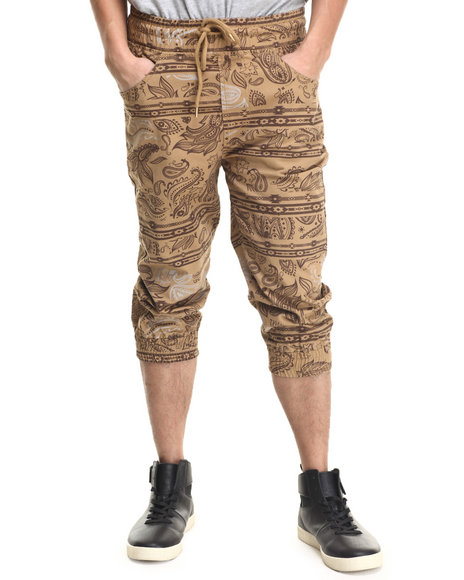 Ur-ID 215957 Buyers Picks - Men Wheat Printed Capri