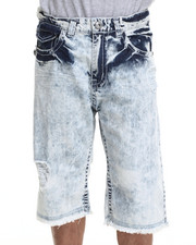 Men - Basic Stone Washed Denim Shorts