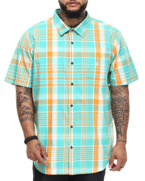 Lrg - Men Green Franco Hova S/S Button-Down (B&T)
