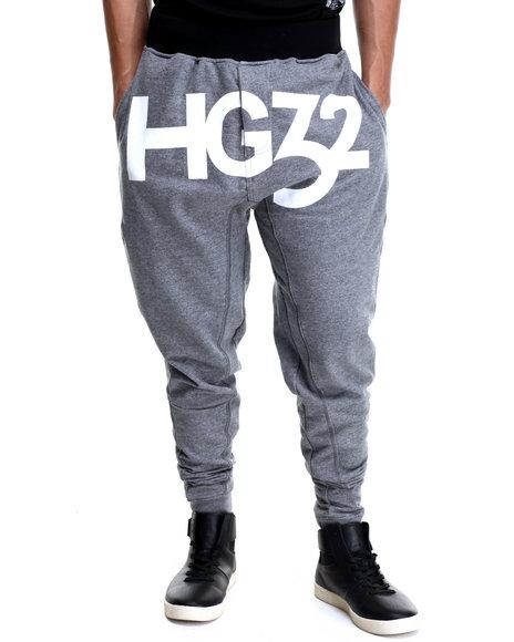 Ur-ID 215891 Hustle Gang - Men Grey Hg32 Sport Jogger Sweatpants