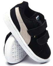 Footwear - SUEDE 2 STRAPS KIDS SNEAKERS (5-10)