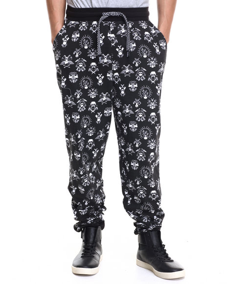 Ur-ID 215965 Enyce - Men Black Scooter Gang All Over Print Jogger