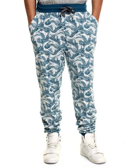 Ur-ID 215951 Enyce - Men Blue Big Wave All Over Print Jogger