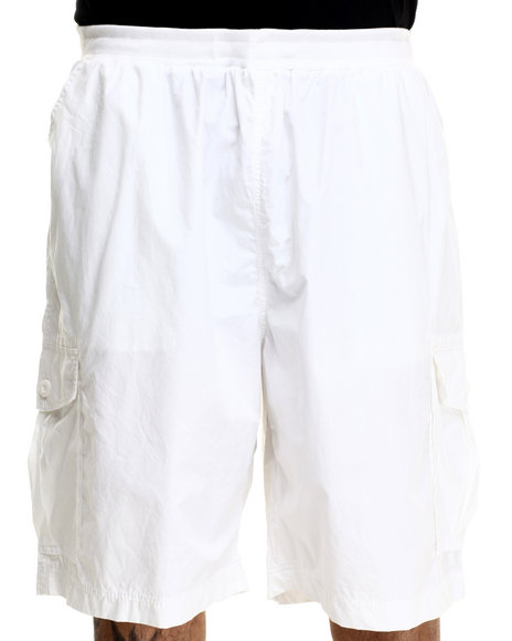 Ecko - Men White Rib Wash Cargo Short (B&T)