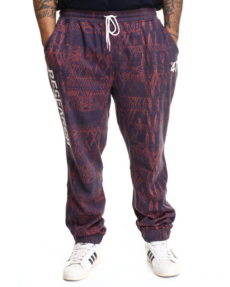 Lrg - Men Orange Bizmarck Sweatpant (B&T) - $32.99