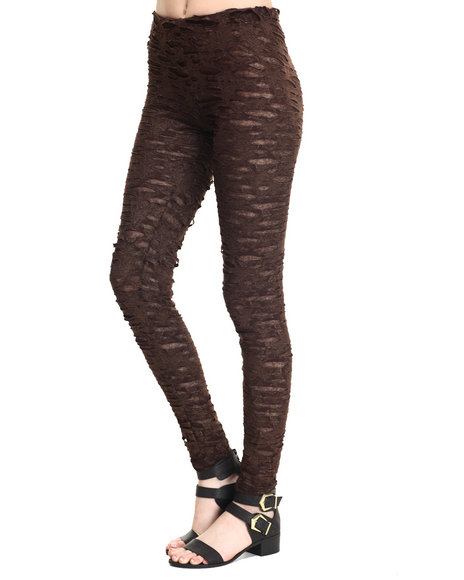 Ur-ID 215969 Vertigo - Women Black Stretch Burnout Mesh Legging