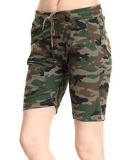 Bottoms - Camo Print Twill Jogger Cropped Short