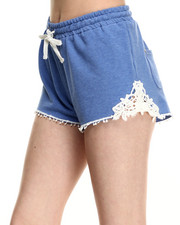 Fashion Lab - Cotton Short w/crochet Side Detail