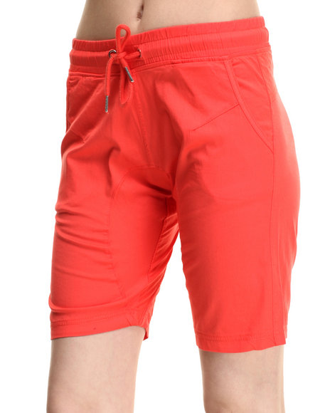 Soho Babe - Women Coral Twill  Cropped Jogger Short - $8.99