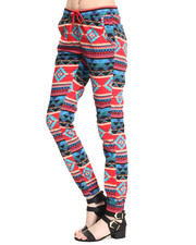 Pants - Aztec Print Jogger
