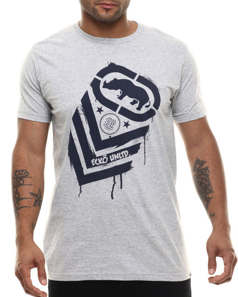 Ecko - Men Grey Rank Splatter T-Shirt - $16.99
