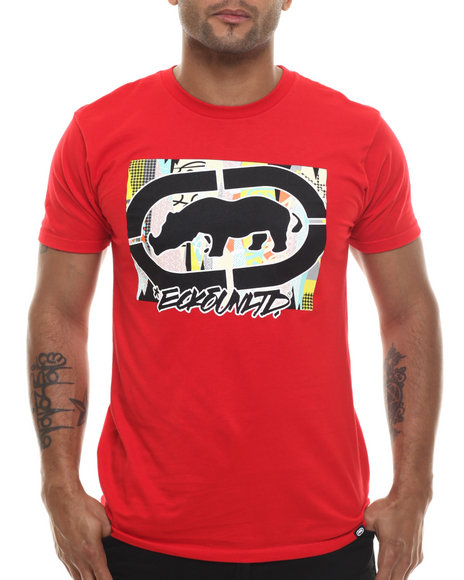 Ecko - Men Red Pattern Fill T-Shirt