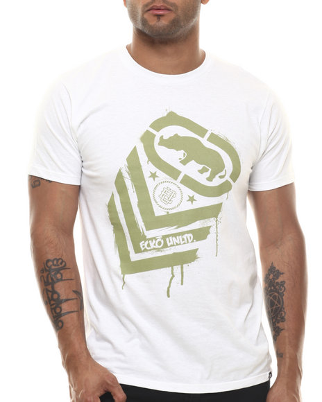 Ecko - Men White Rank Splatter T-Shirt