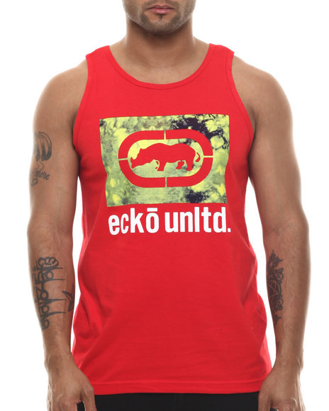Ecko - Men Red Tie Dye Tank