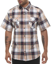 Shirts - Sean Plaid Double Pocket S/S Button Down Shirt