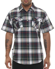 Miskeen - Sean Plaid Double Pocket S/S Button Down Shirt