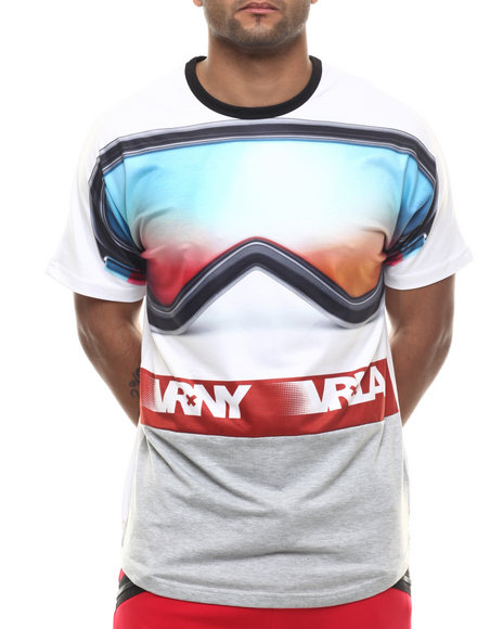 V R N Y - Men White V R / N Y Goggles Elongated S/S Top - $17.99