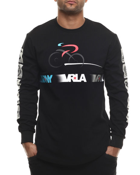 V R N Y - Men Black V R / N Y Cycling Elongated L/S Top - $25.99