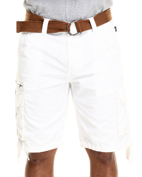 Ur-ID 216053 Ecko - Men White Ripstop Cargo Short