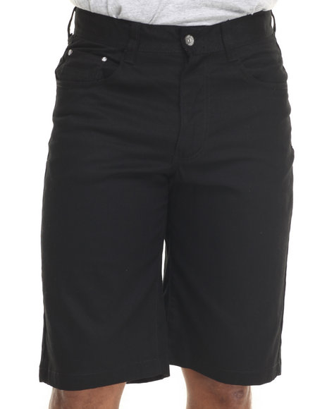 Ur-ID 216075 Miskeen - Men Black Heavy Twill Color Shorts