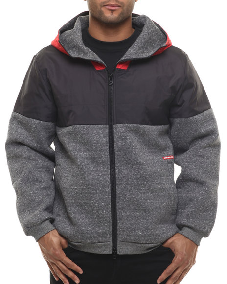Ur-ID 216080 Crooks & Castles - Men Black Waverun Zip Hoodie
