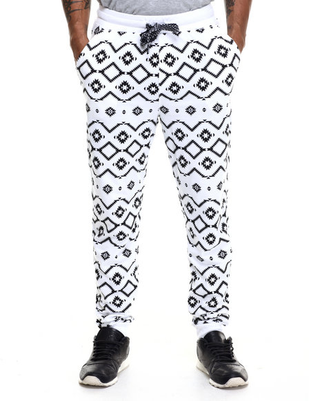 Enyce - Men White Tribe All Over Print Jogger