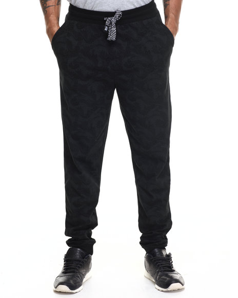 Ur-ID 215988 Enyce - Men Black Big Wave All Over Print Jogger