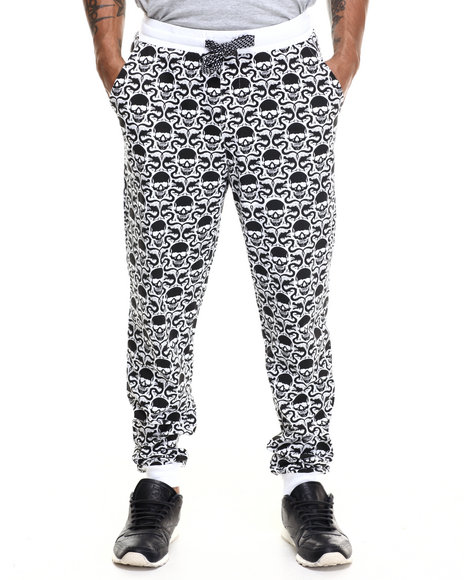Enyce - Men White Enter The Dragon All Over Print Jogger - $14.99