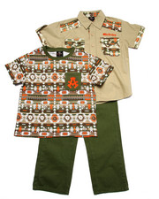 Sets - 3 PC SET - AZTEC SHIRT, TEE, & JEANS (4-7)