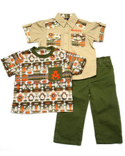 Sets - 3 PC SET - AZTEC SHIRT, TEE, & JEANS (INFANT)
