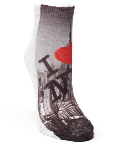 Drj Sock Shop Women I Love Ny Sublimated Socks Black