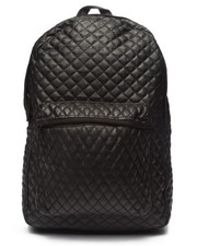 Backpacks - Diamond Quilted PU Backpack