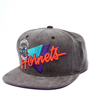 Men - Charolotte Hornets Crease Triangle Script Snapback Hat